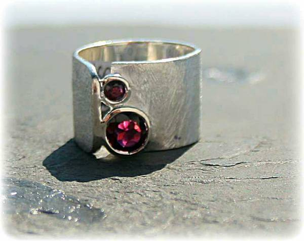Silberring 925 Sterling Silber mit Granat